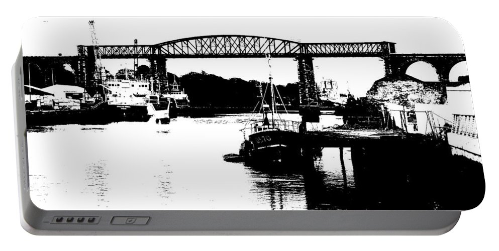 Drogheda Portable Battery Charger featuring the photograph Bridge On The Boyne by Charlie and Norma Brock