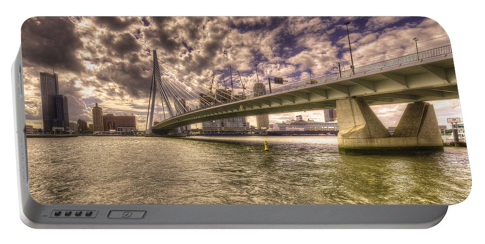 Rotterdam Portable Battery Charger featuring the photograph Bridge Over Rotterdam by Rob Hawkins