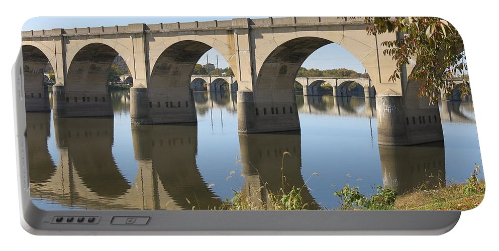 Bridge Portable Battery Charger featuring the photograph Bridge Upon Bridge by Jean Macaluso