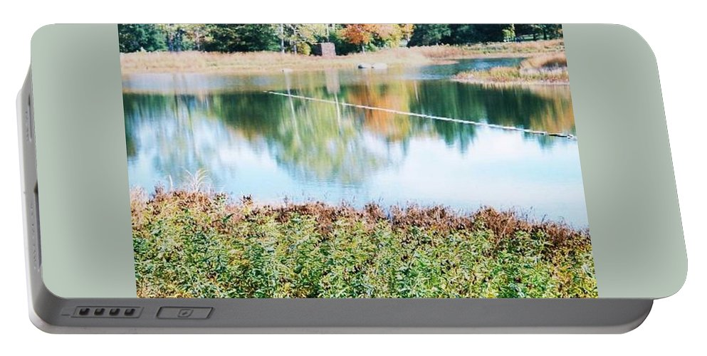 Lake Portable Battery Charger featuring the photograph Bright Lake by Samantha L