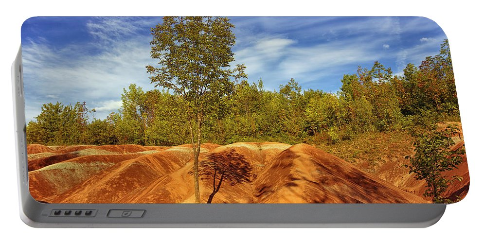 Caledon Ontario Portable Battery Charger featuring the photograph Bright Light On The Badlands by Phill Doherty