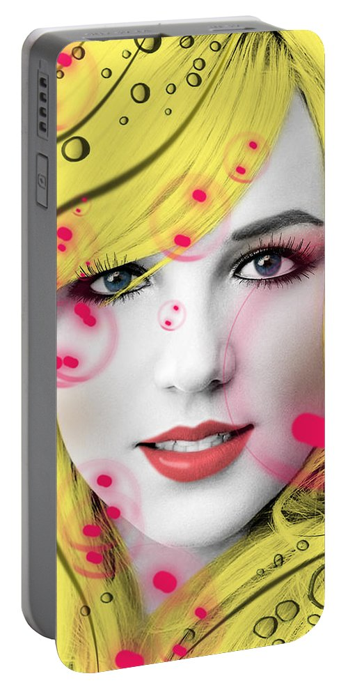 Britney Spears Portable Battery Charger featuring the digital art Britney by Mark Ashkenazi