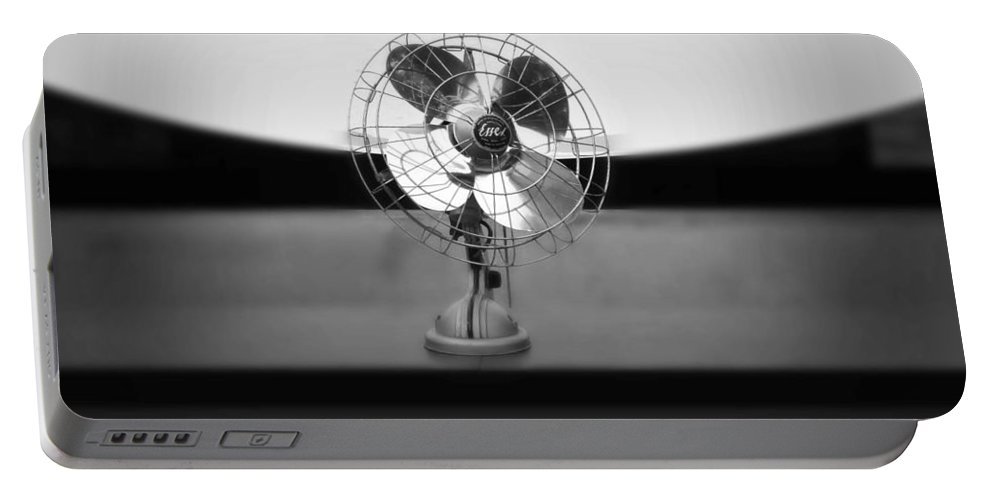 Fan Portable Battery Charger featuring the photograph Broadcast by Charles Stuart