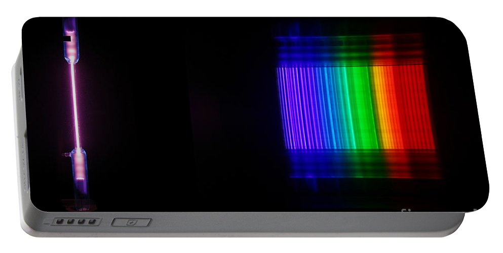 Atomic Portable Battery Charger featuring the photograph Bromine Spectra by Ted Kinsman