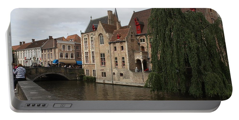 Brugge Portable Battery Charger featuring the photograph Brugge by Donna Walsh