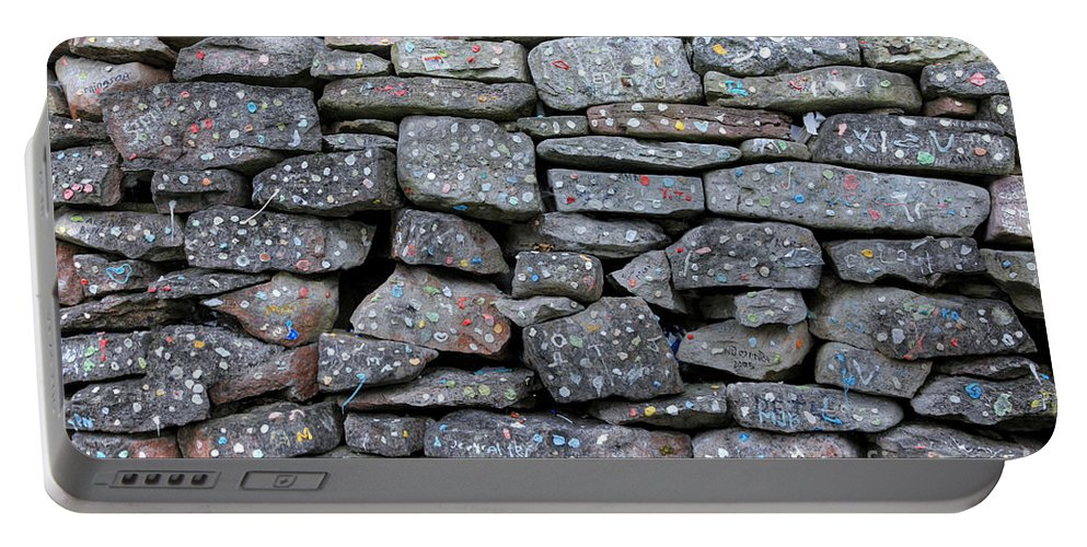 Canada Portable Battery Charger featuring the photograph Bubble Gum Wall by Ted Kinsman