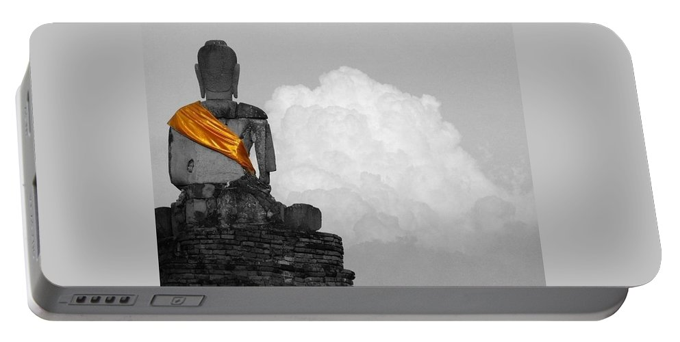 Inspirational Portable Battery Charger featuring the photograph Buddha Contemplation by Lyle Barker