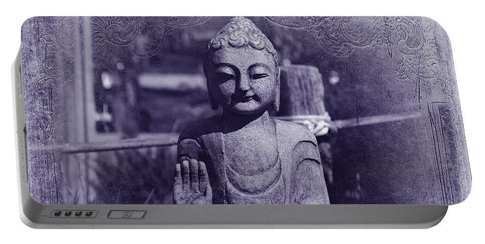 Buddha Portable Battery Charger featuring the photograph Buddhas Words by Susanne Van Hulst
