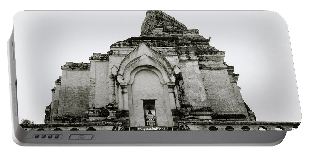 Wat Portable Battery Charger featuring the photograph Buddhist Wat Chedi Luang by Shaun Higson