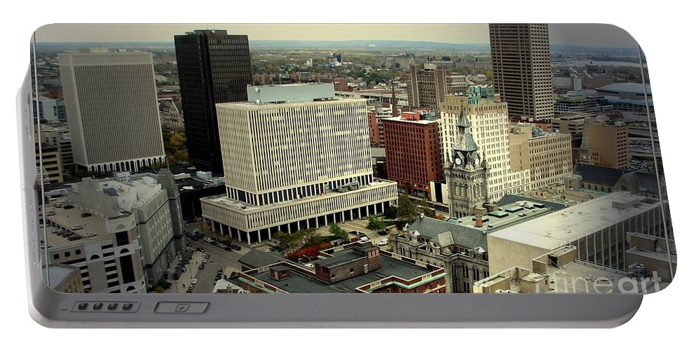 Buffalo Portable Battery Charger featuring the photograph Buffalo New York Aerial View by Rose Santuci-Sofranko