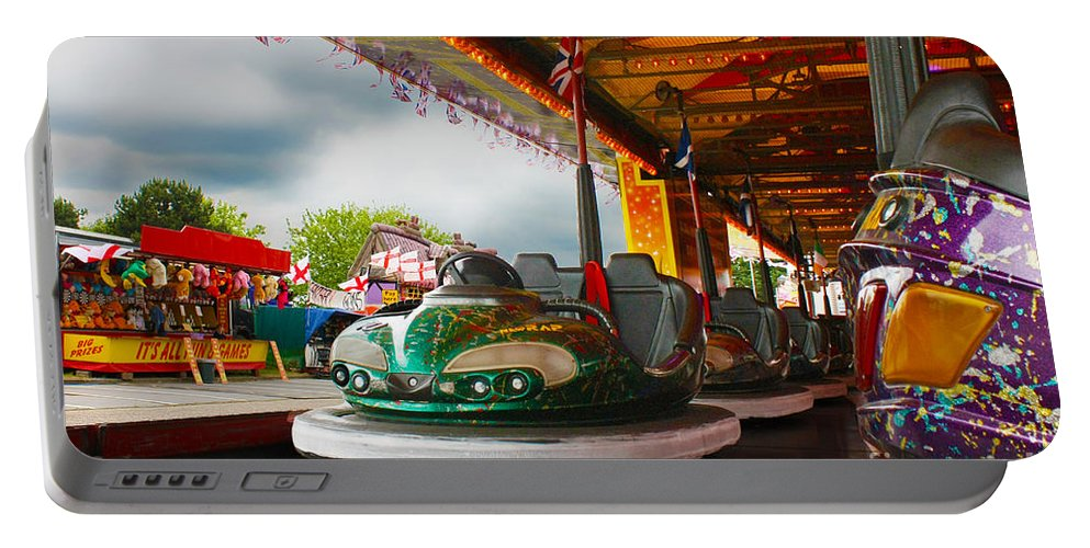 Dodgems Portable Battery Charger featuring the photograph Bumper Cars by Terri Waters