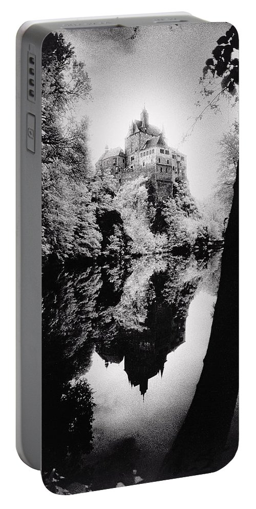 Castle; Ghostly; Reflection; Architecture; Tree Portable Battery Charger featuring the photograph Burg Kriebstein by Simon Marsden