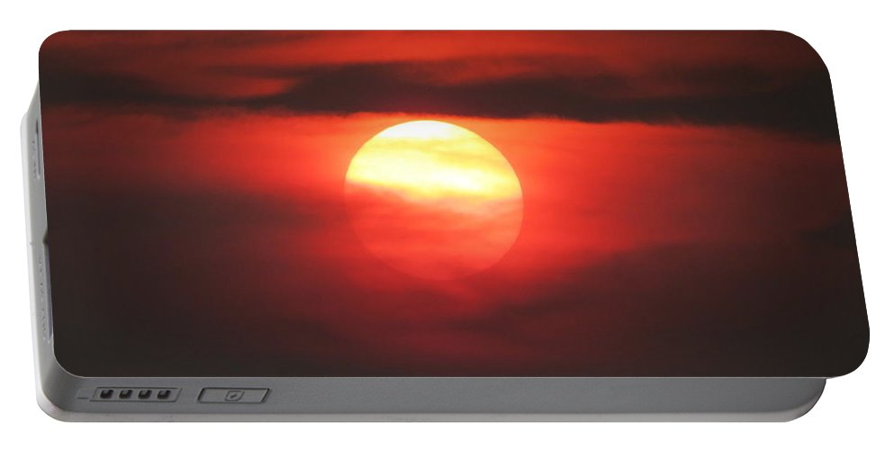 Aimee Mouw Portable Battery Charger featuring the photograph Burning Twilight by Aimee Mouw