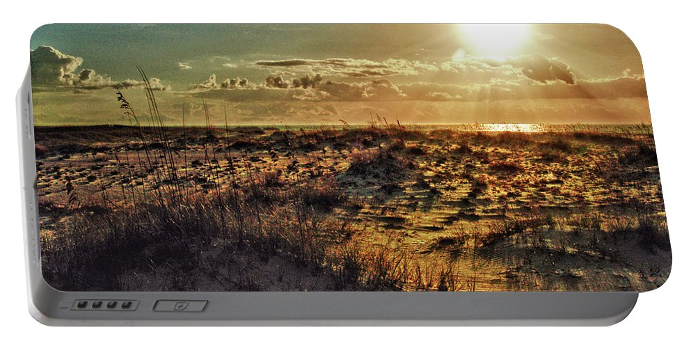 Alabama Photographer Portable Battery Charger featuring the digital art Burnt Orange Sunrise by Michael Thomas