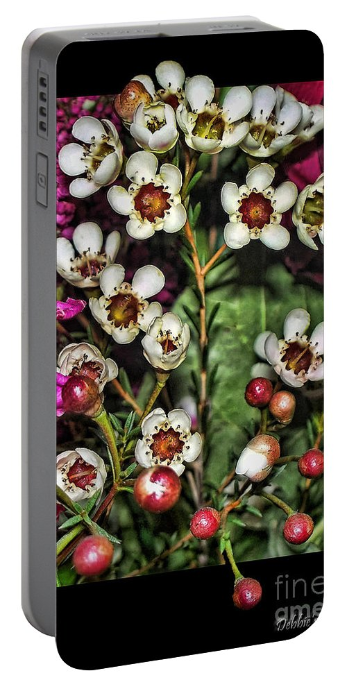 Nature Portable Battery Charger featuring the photograph Bustin Out by Debbie Portwood