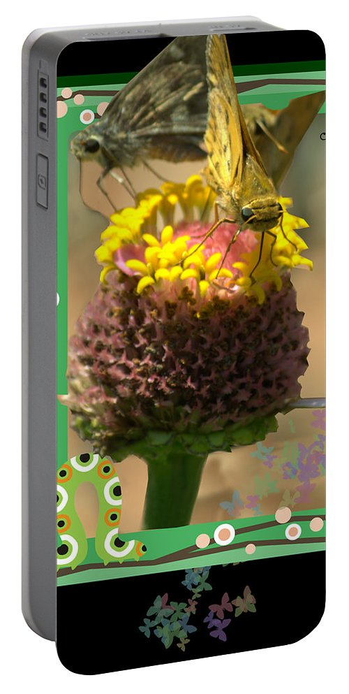 Insects Portable Battery Charger featuring the photograph Butterflies 3d by Donna Brown