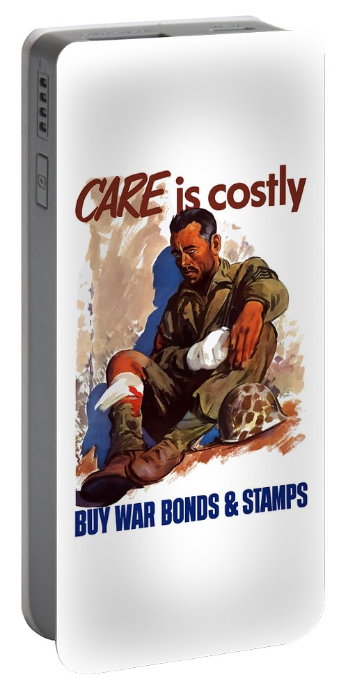 War Bonds Portable Battery Charger featuring the painting Buy War Bonds And Stamps by War Is Hell Store