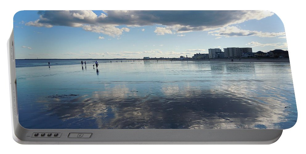 Beach Portable Battery Charger featuring the photograph By The Sea In Maine by Nancy Griswold
