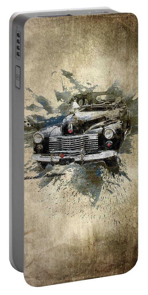 Active Portable Battery Charger featuring the digital art Cadillac Aldham by Svetlana Sewell