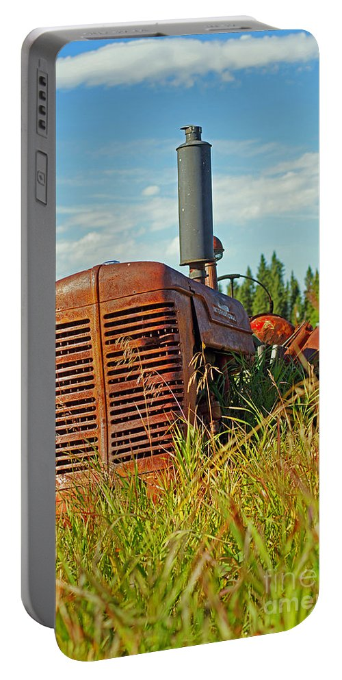 Tractors Portable Battery Charger featuring the photograph Calgary Tractor by Randy Harris