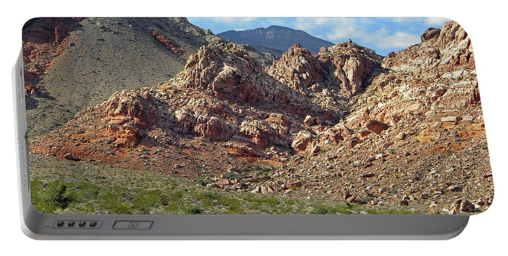 Cactus Portable Battery Charger featuring the photograph Calico Basin View by Frank Wilson