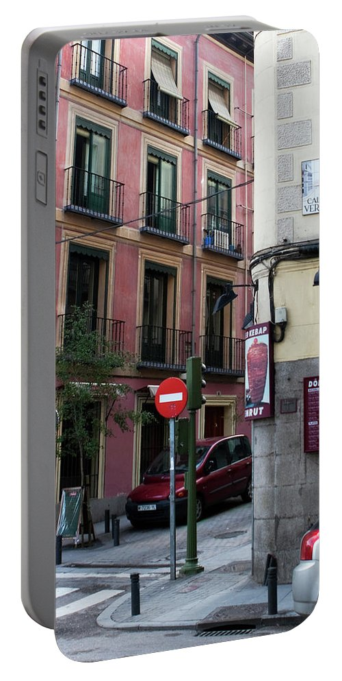 Madrid Portable Battery Charger featuring the photograph Calle De Vergara Madrid by Lorraine Devon Wilke