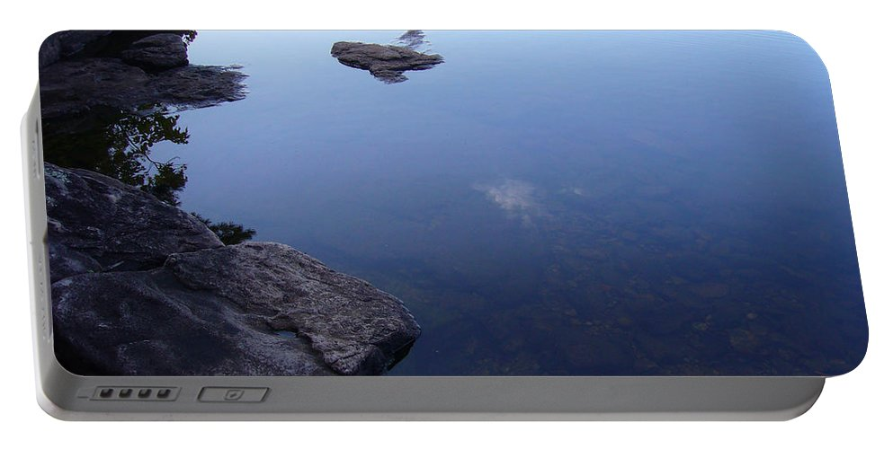 Calm Portable Battery Charger featuring the photograph Calm Waters by Shirley Radebach