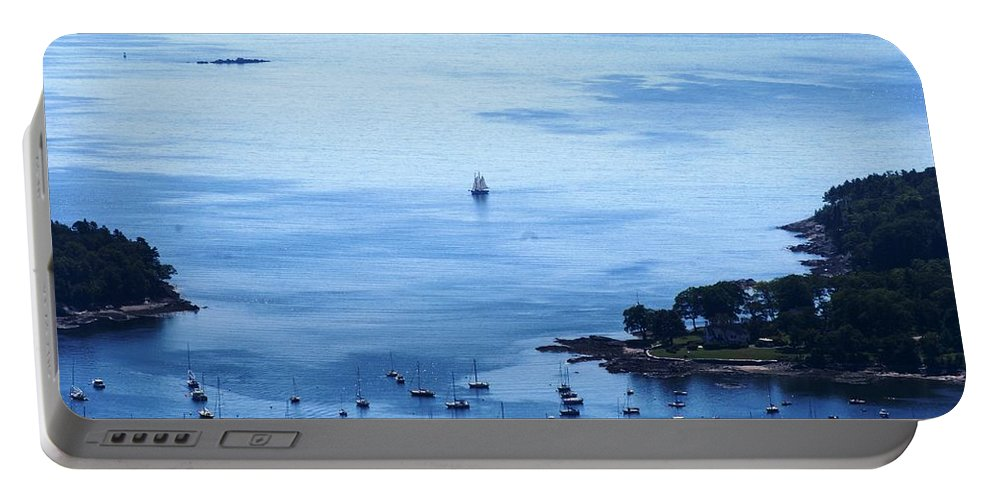 Camden Portable Battery Charger featuring the photograph Camden Harbor by Joe Faherty