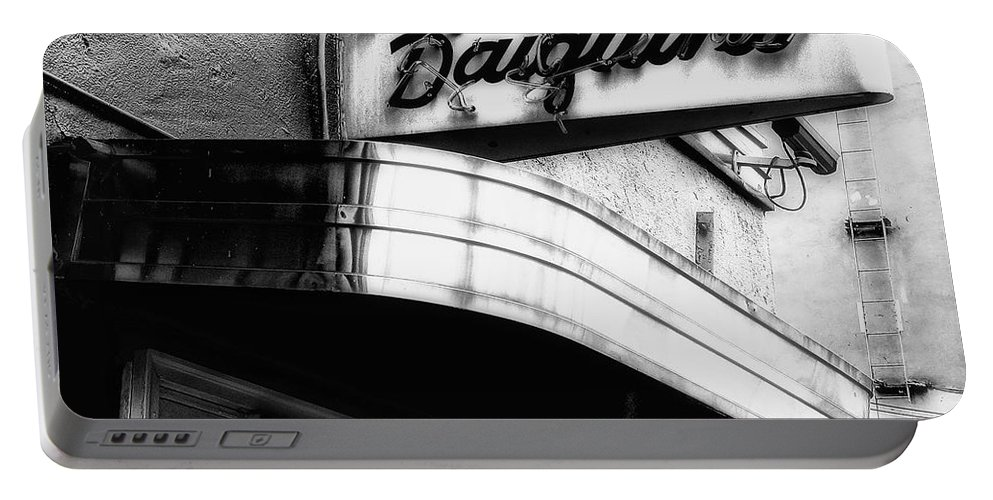 Signage Portable Battery Charger featuring the photograph Can You Spell Daiquiris? by Kathleen K Parker