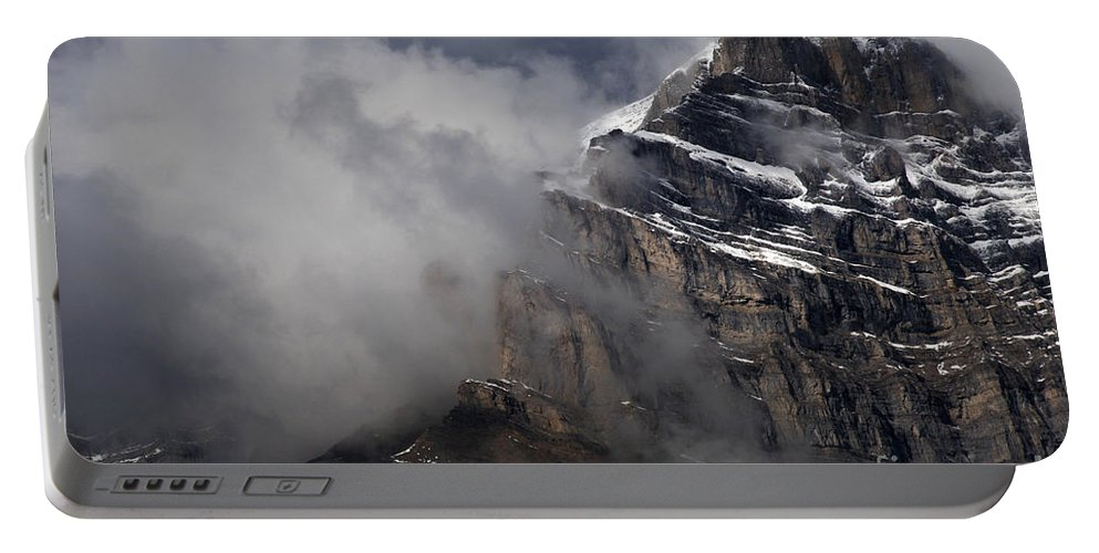 Canadian Rockies Portable Battery Charger featuring the photograph Canadian Rockies by Bob Christopher