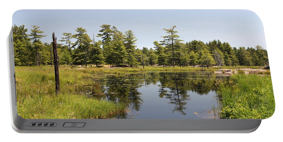 Wetland Portable Battery Charger featuring the photograph Canadian Wetland by Ted Kinsman