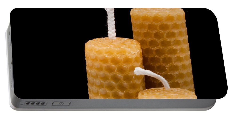 Beeswax Portable Battery Charger featuring the photograph Candles by Tom Gowanlock