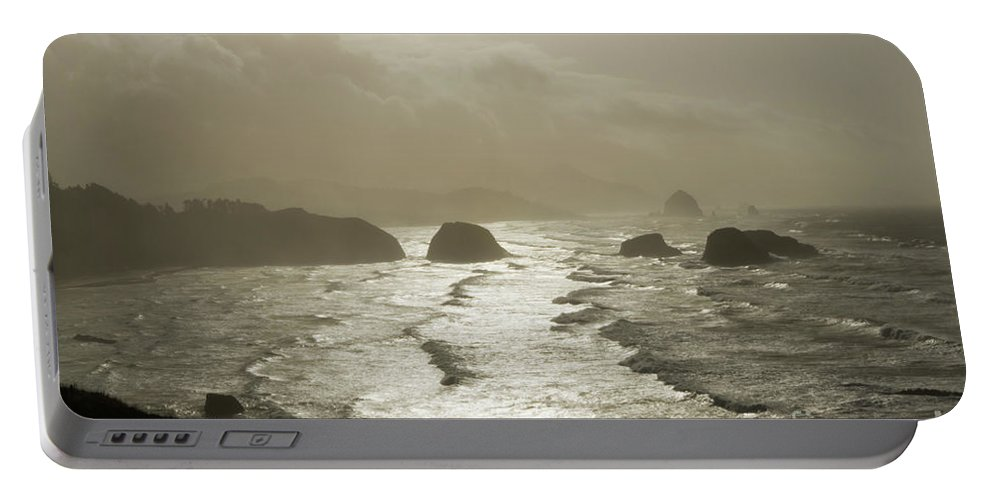 Pacific Ocean Portable Battery Charger featuring the photograph Cannon Beach by Bob Christopher