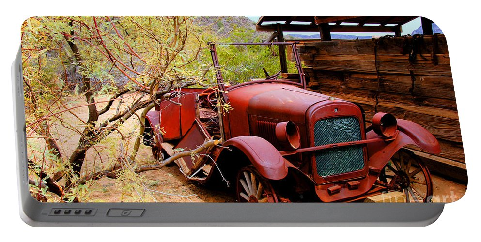 Canyon Creek Ranch Portable Battery Charger featuring the photograph Canyon Creek Ranch Transportation by Tap On Photo