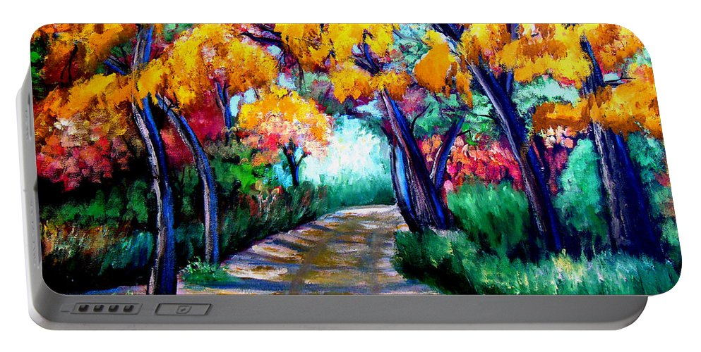 Canyon De Chelly In The Fall Portable Battery Charger featuring the painting Canyon De Chelly In The Fall by Don Monahan