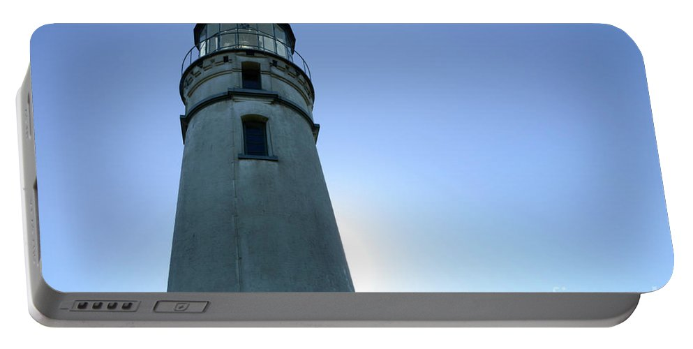 Pacific Ocean Portable Battery Charger featuring the photograph Cape Blanco Light 2 by Bob Christopher