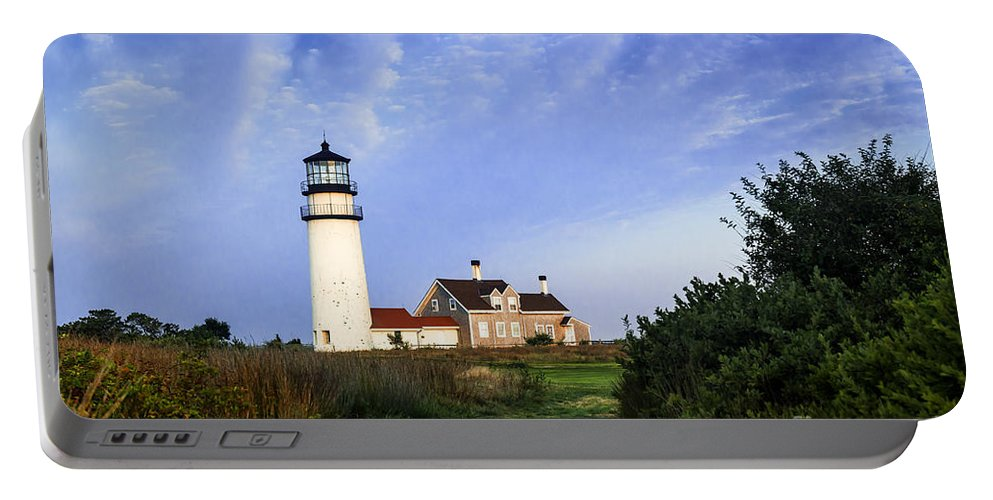 New England Portable Battery Charger featuring the photograph Cape Cod Lighthouse by John Greim