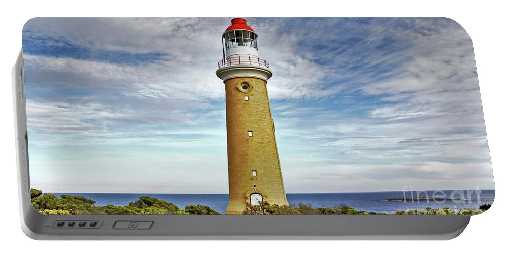 Cape Du Couedic Portable Battery Charger featuring the photograph Cape Du Couedic Light House by Stephen Mitchell