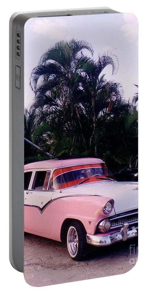 Classic Cars Portable Battery Charger featuring the photograph Car Show At The Resort by John Malone