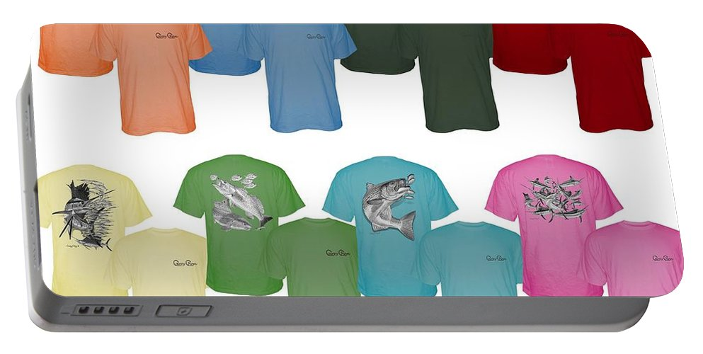 T Shirts Portable Battery Charger featuring the digital art Carey Chen Fine Art Clothing by Carey Chen
