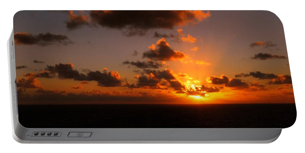 Sunset Portable Battery Charger featuring the photograph Caribbean Sunset by Gary Wonning