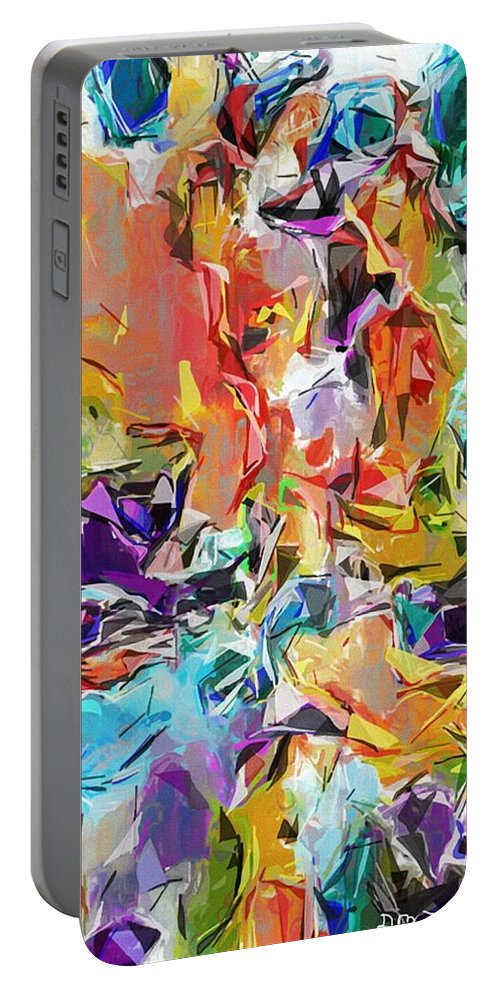 Fine Art Portable Battery Charger featuring the digital art Carnival Abstract 082512 by David Lane