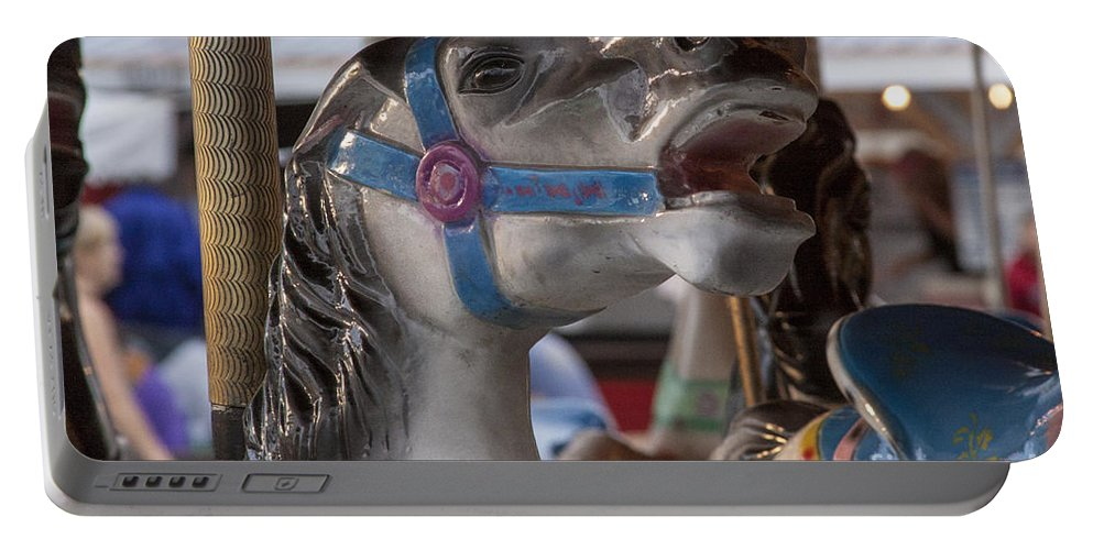 Carousel Portable Battery Charger featuring the photograph Carousel Horse by Darleen Stry