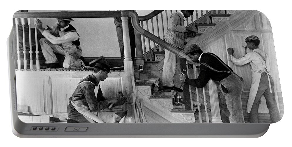 Carpenter Portable Battery Charger featuring the photograph Carpenters by Photo Researchers