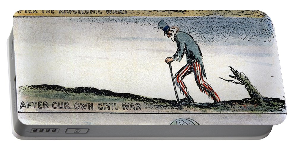 1932 Portable Battery Charger featuring the photograph Cartoon: World Wars, 1932 by Granger