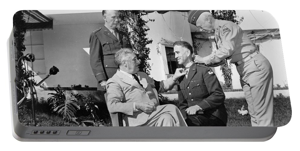 1943 Portable Battery Charger featuring the photograph Casablanca Conference, 1943 by Granger