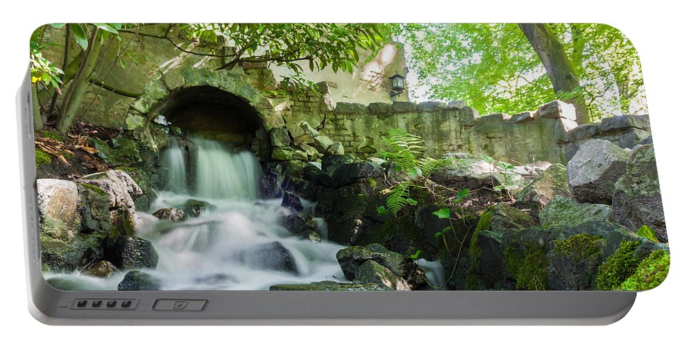 Flowers Portable Battery Charger featuring the photograph Cascade Falls by Semmick Photo