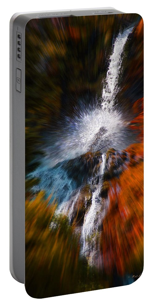 Color Portable Battery Charger featuring the photograph Cascade Waterfall by Mick Anderson