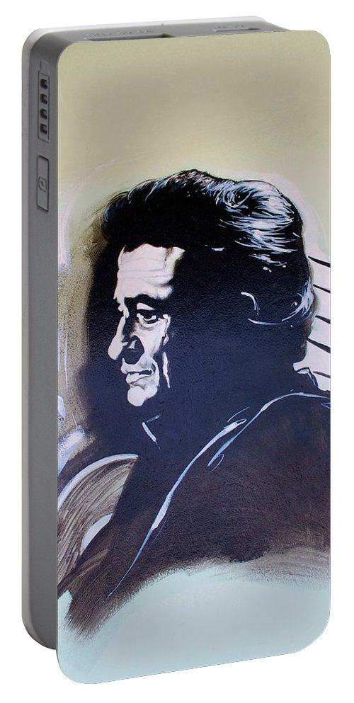 Johnny Cash Portable Battery Charger featuring the photograph Cash by Rob Hans