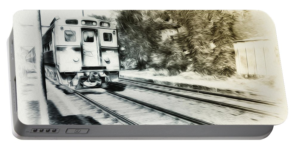 Catch That Train Portable Battery Charger featuring the photograph Catch That Train by Bill Cannon